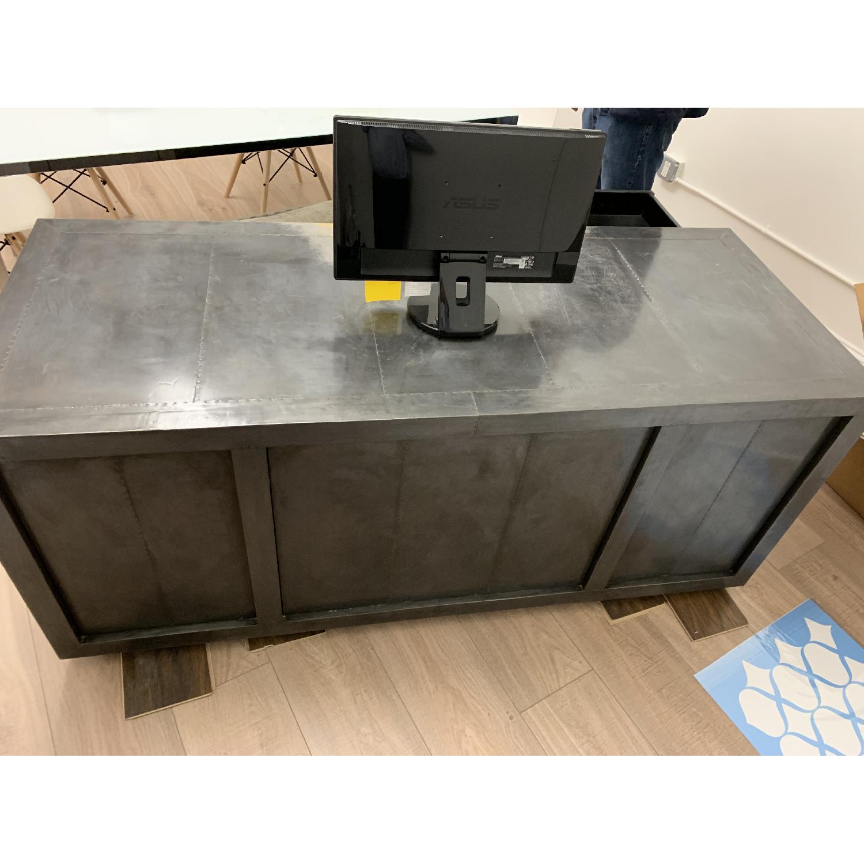 Restoration Hardware La Salle Metal-Wrapped Desk-0