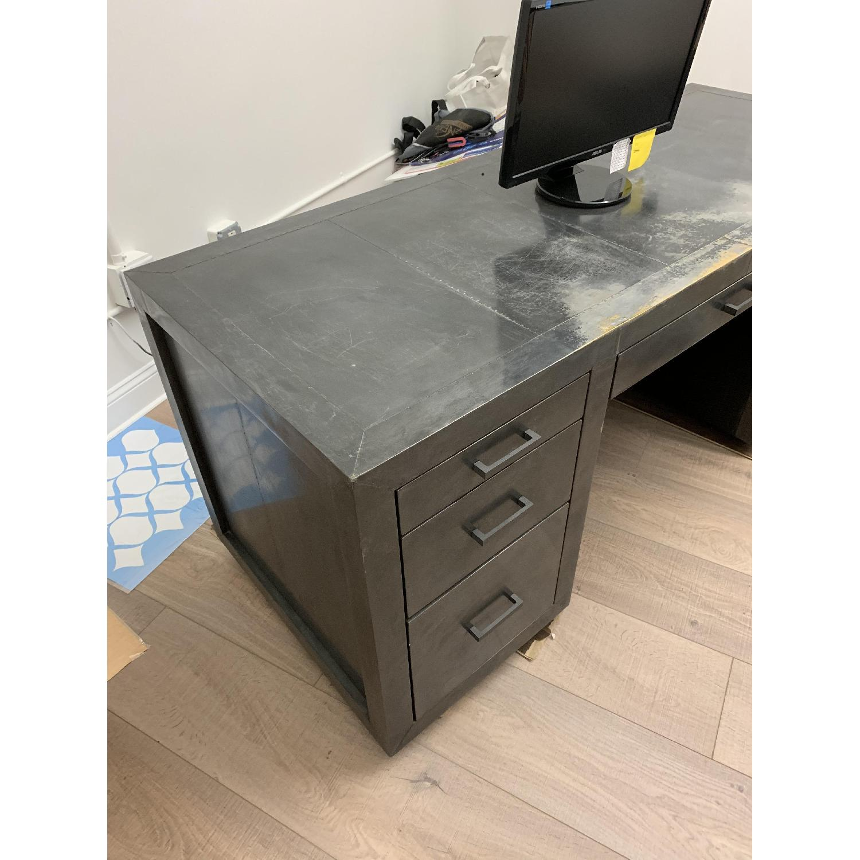 Restoration Hardware La Salle Metal-Wrapped Desk-1