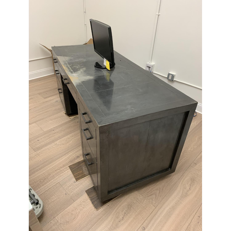 Restoration Hardware La Salle Metal-Wrapped Desk-2