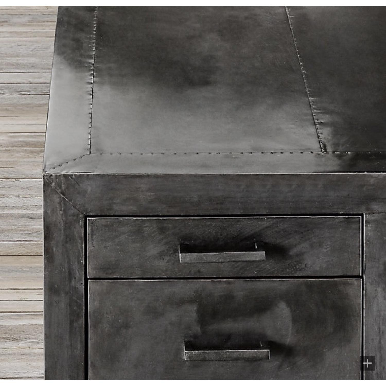 Restoration Hardware La Salle Metal-Wrapped Desk-5