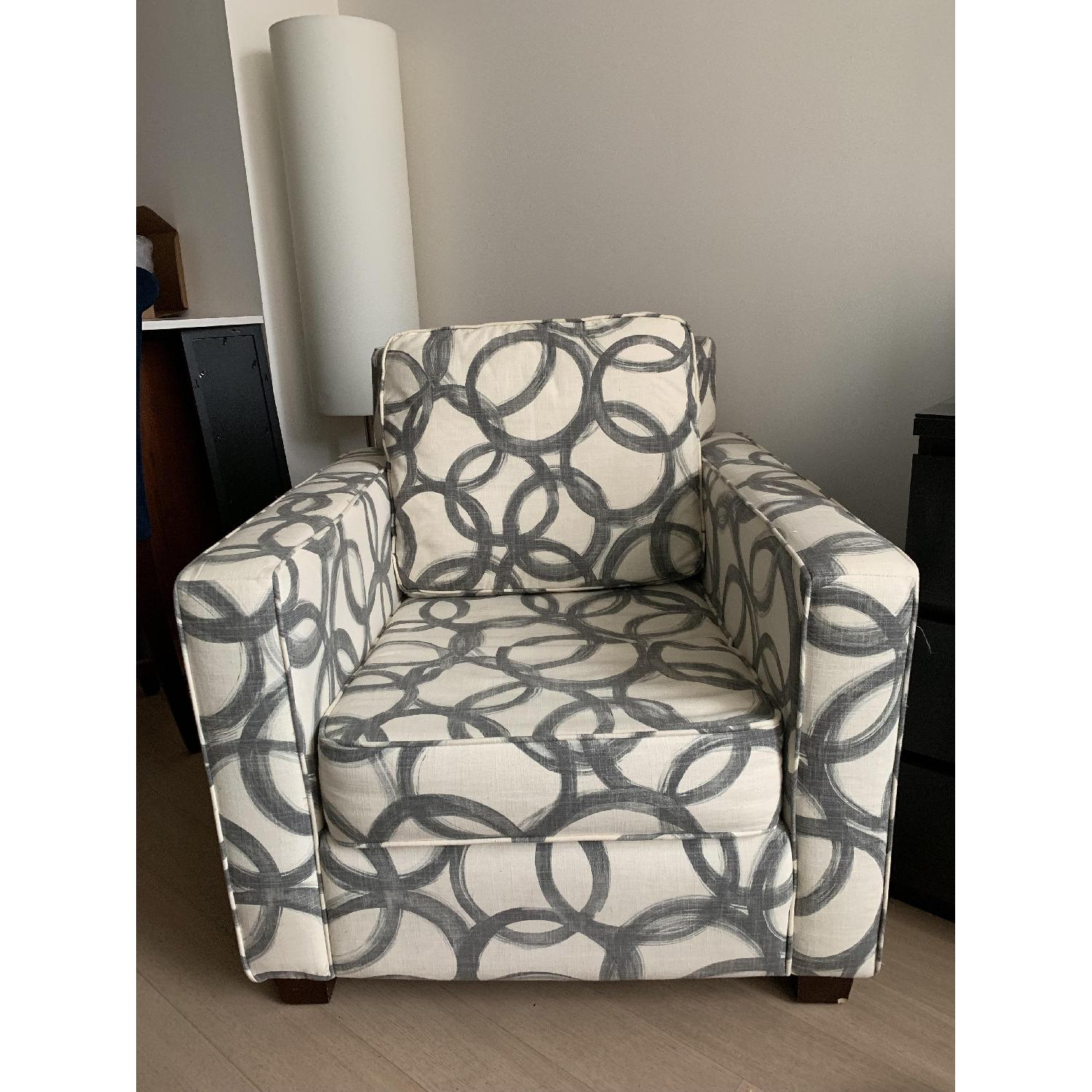 West Elm Patterned Henry Armchair-0