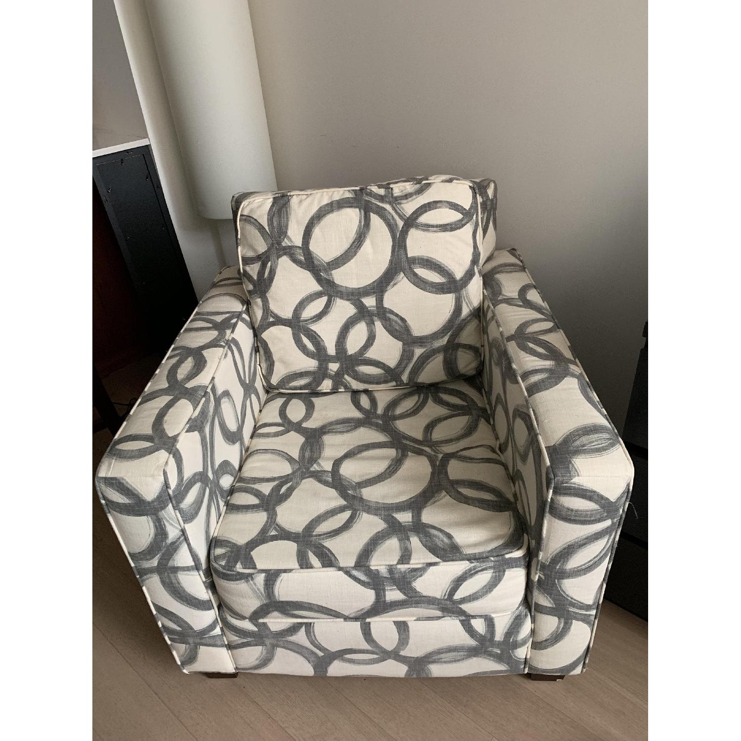 West Elm Patterned Henry Armchair-1