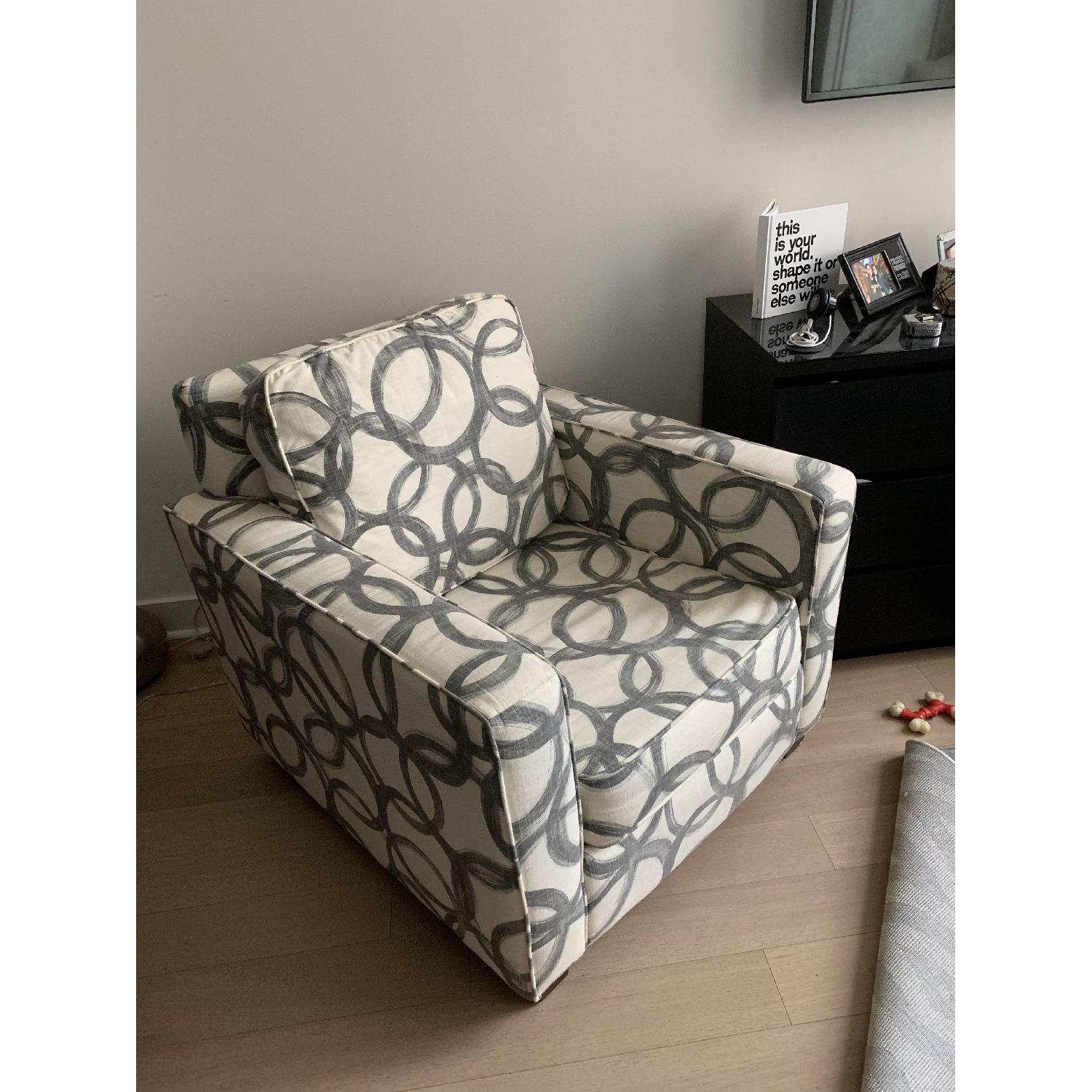 West Elm Patterned Henry Armchair-2