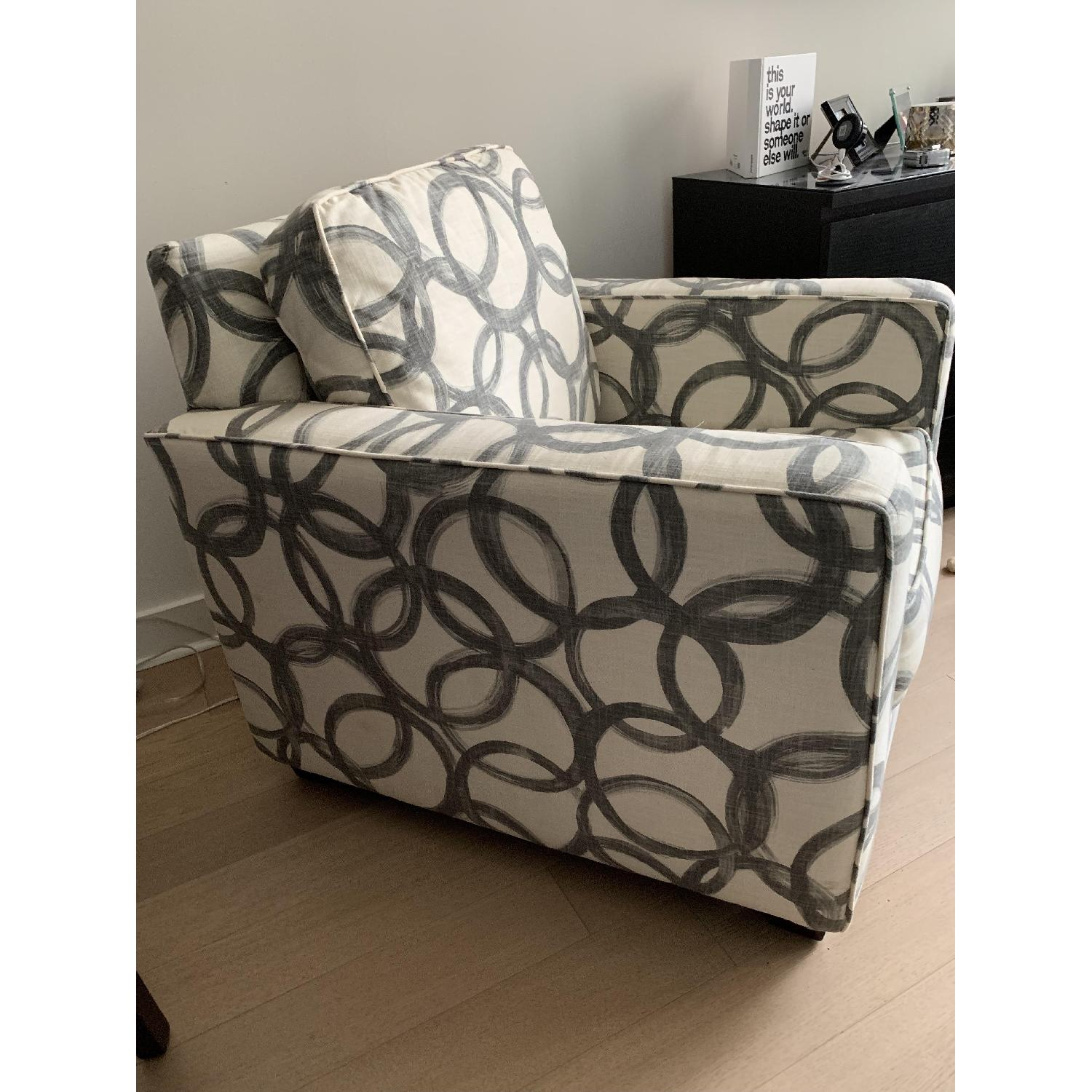 West Elm Patterned Henry Armchair-3