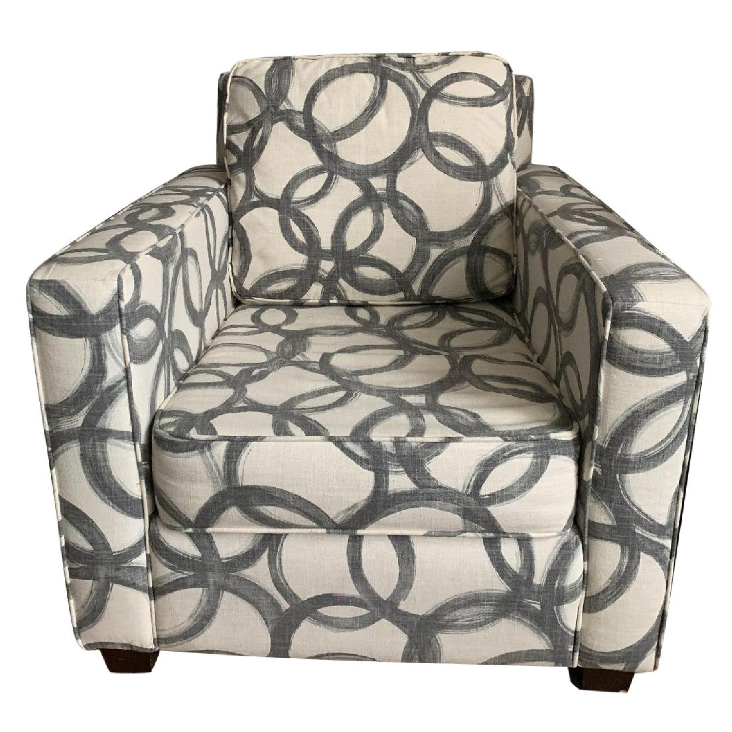 West Elm Patterned Henry Armchair