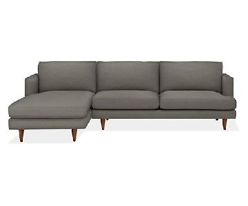 Room & Board Campbell Sectional Sofa w/ Left-Arm Chaise