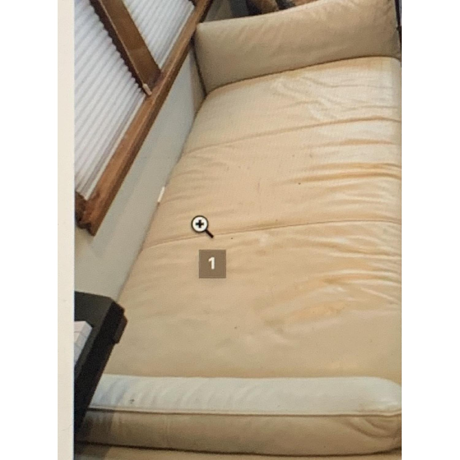 Italsofa Cream Leather Daybed/Chaise Lounge-0
