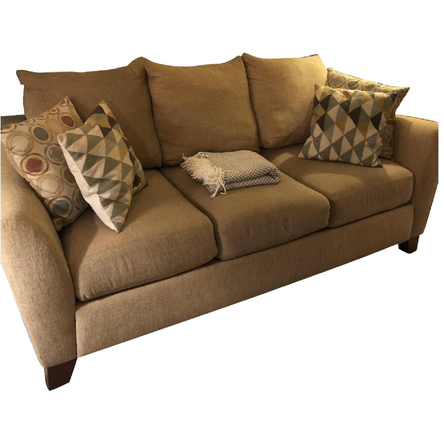 Raymour & Flanigan Kathy Ireland Home Tan Sofa