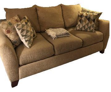 Raymour & Flanigan Kathy Ireland Home Tan Sofa