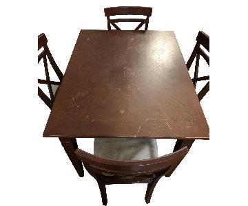 Dark Wood 5-Piece Dining Set