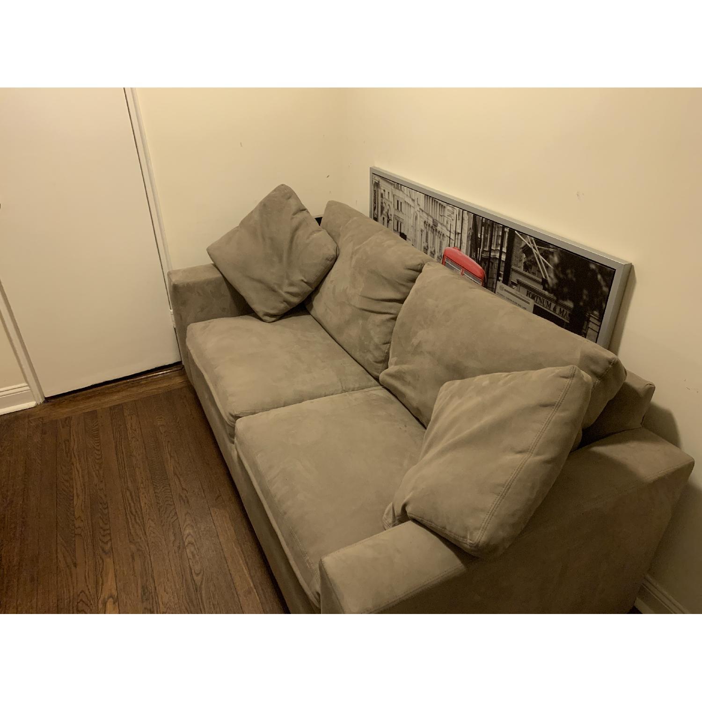 Beige 2-Seat Sleeper Sofa-0