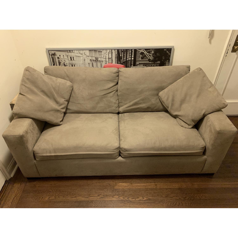 Beige 2-Seat Sleeper Sofa-1