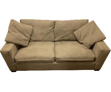 Beige 2-Seat Sleeper Sofa