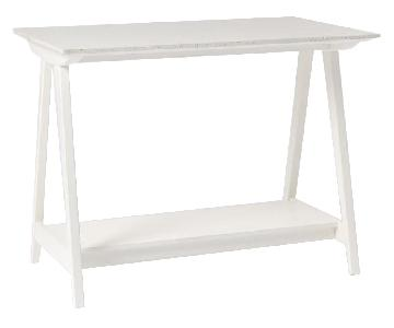 West Elm Compass Kitchen Island in White Quartz