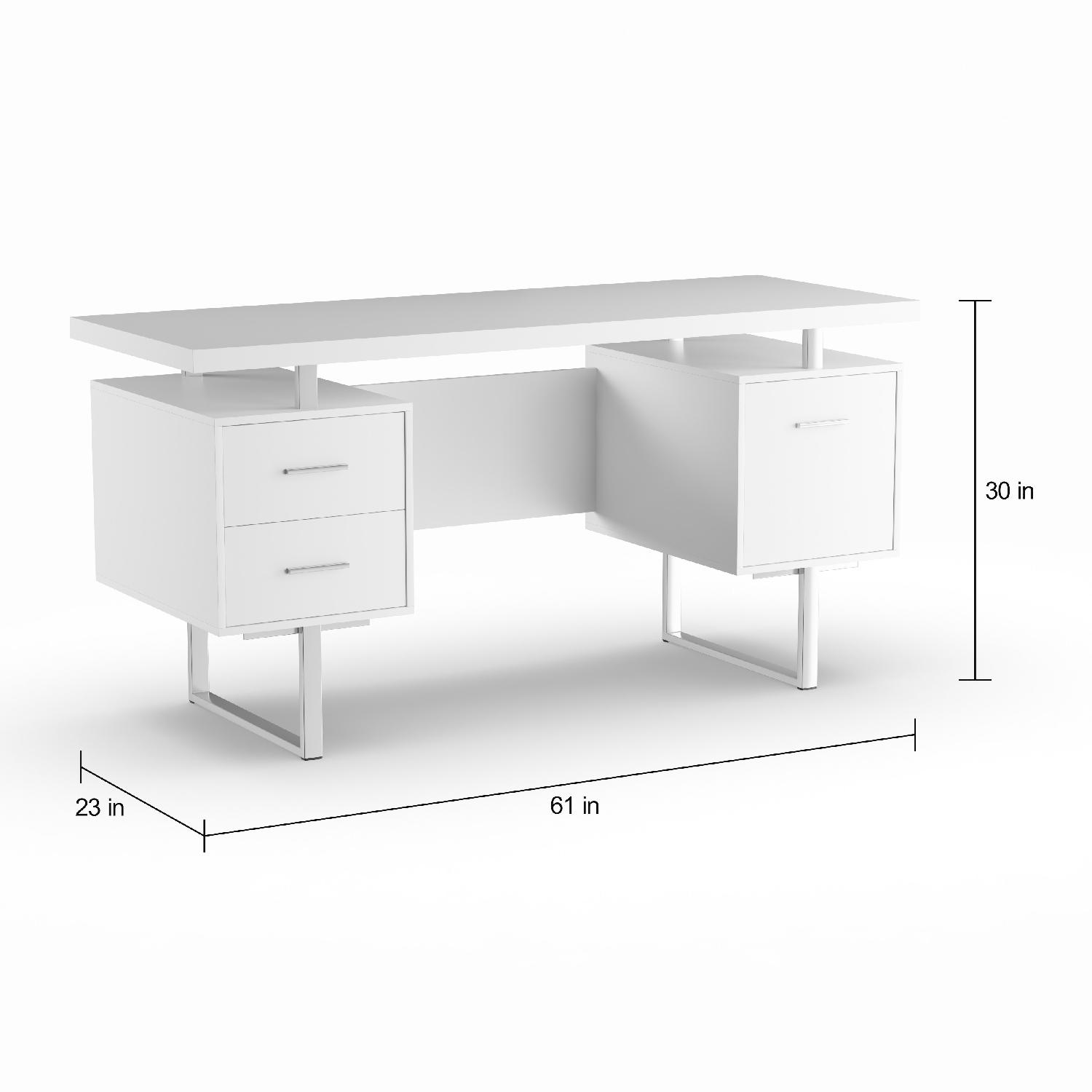 Strick & Bolton Joffe White Metal Office Desk-3