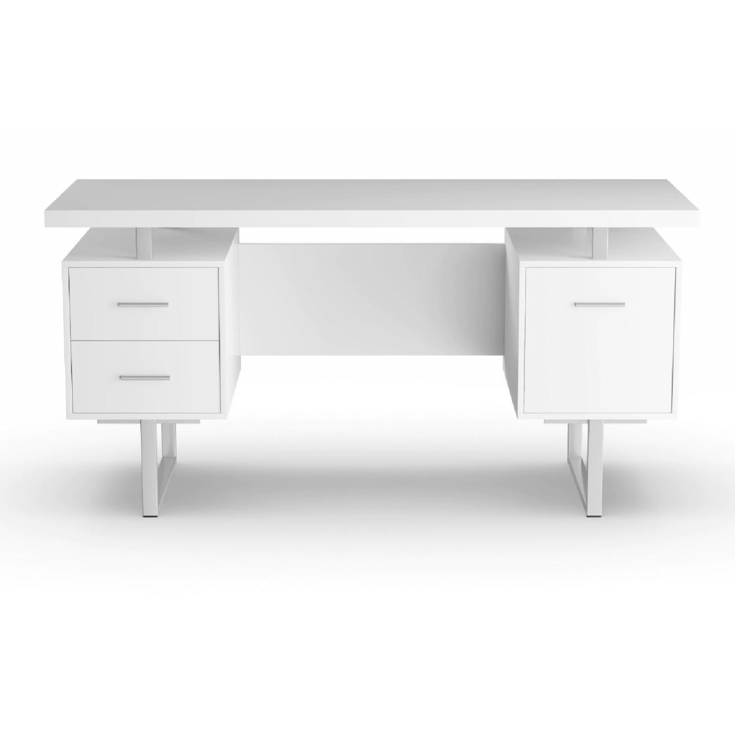 Strick & Bolton Joffe White Metal Office Desk