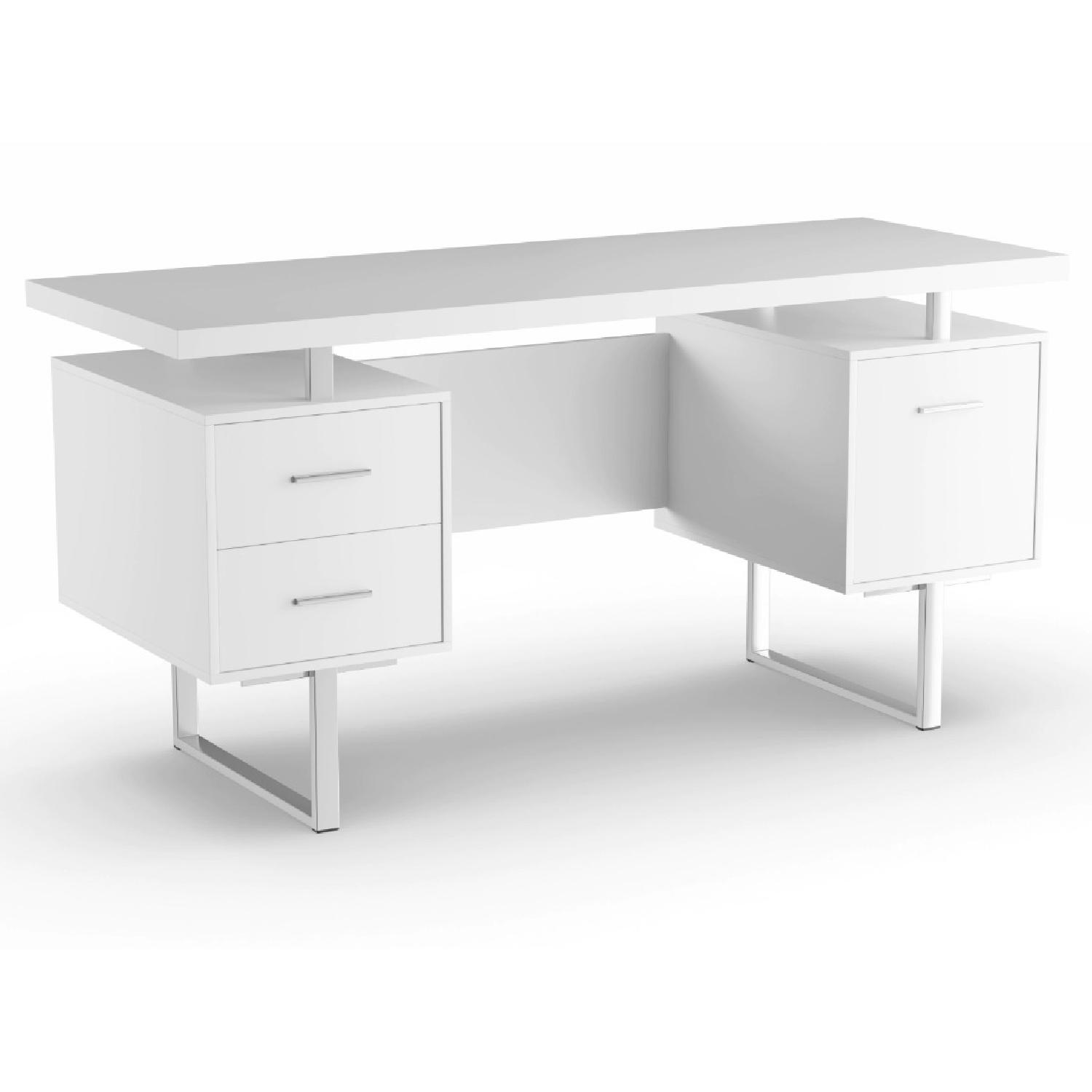 Strick & Bolton Joffe White Metal Office Desk-4