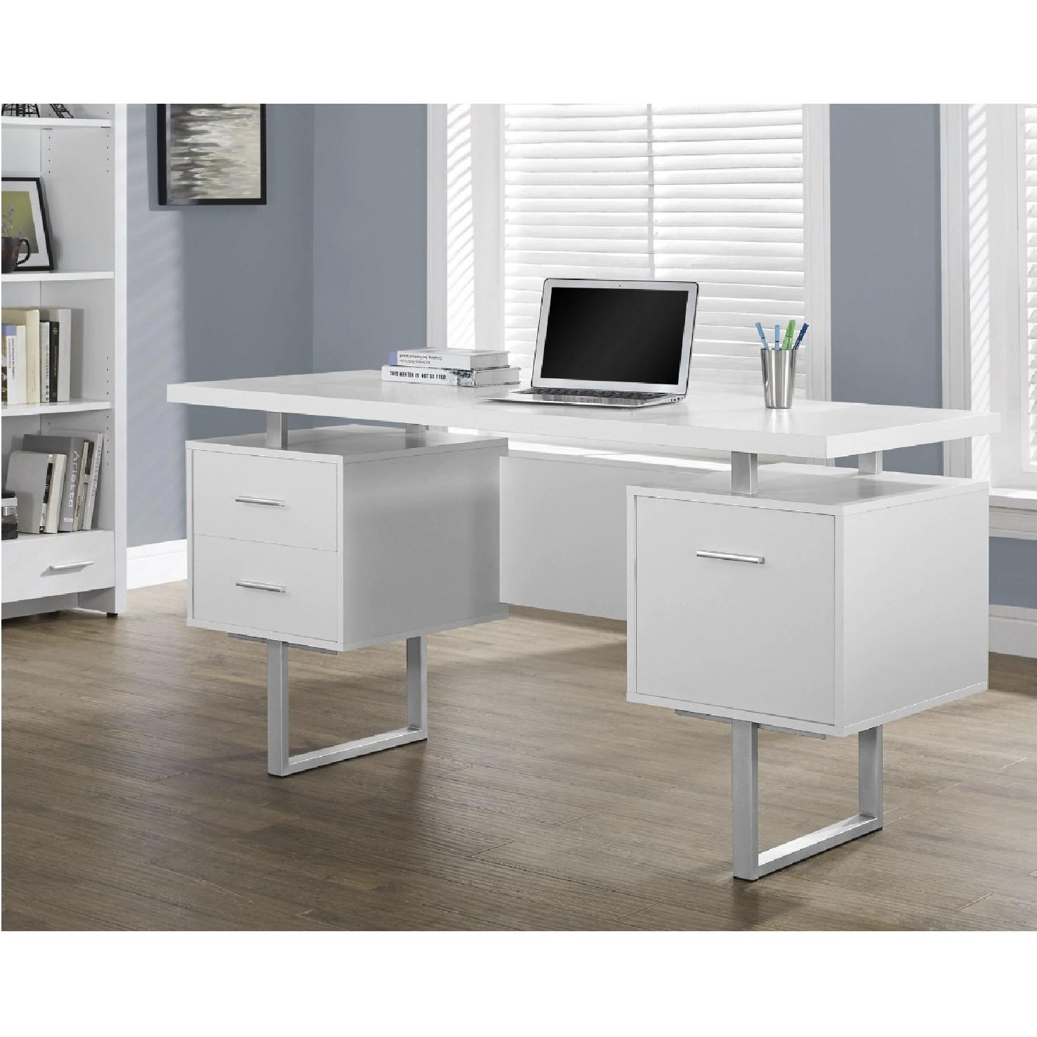 Strick & Bolton Joffe White Metal Office Desk-5