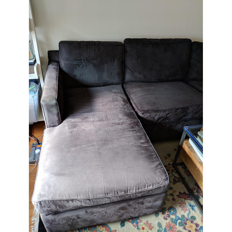 Crate & Barrel 2-Piece Sectional Sofa-2