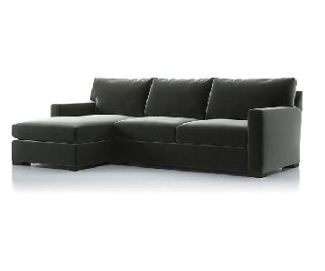 Crate & Barrel 2-Piece Sectional Sofa