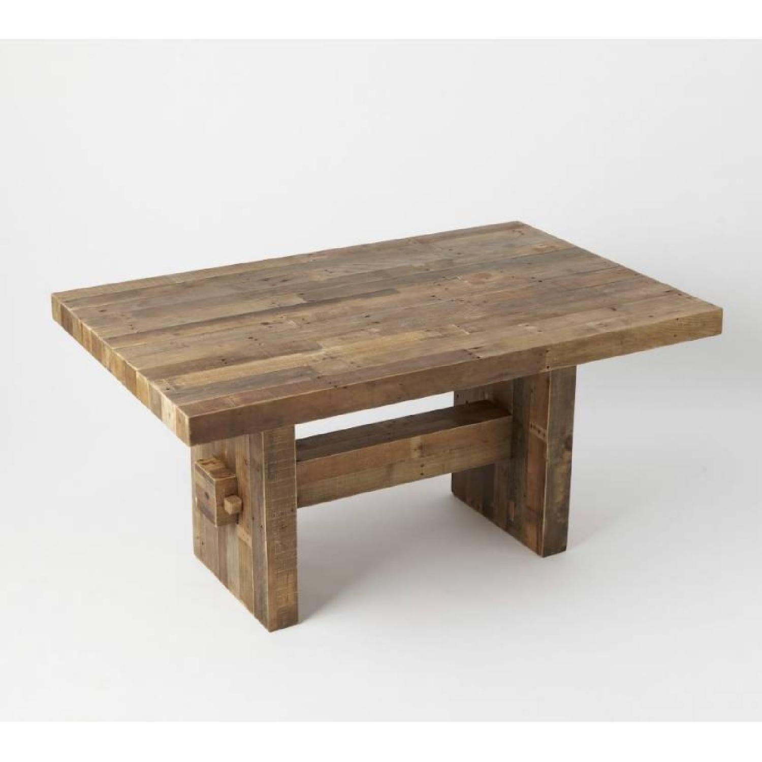 West Elm Reclaimed Pine Wood Dining Table-0