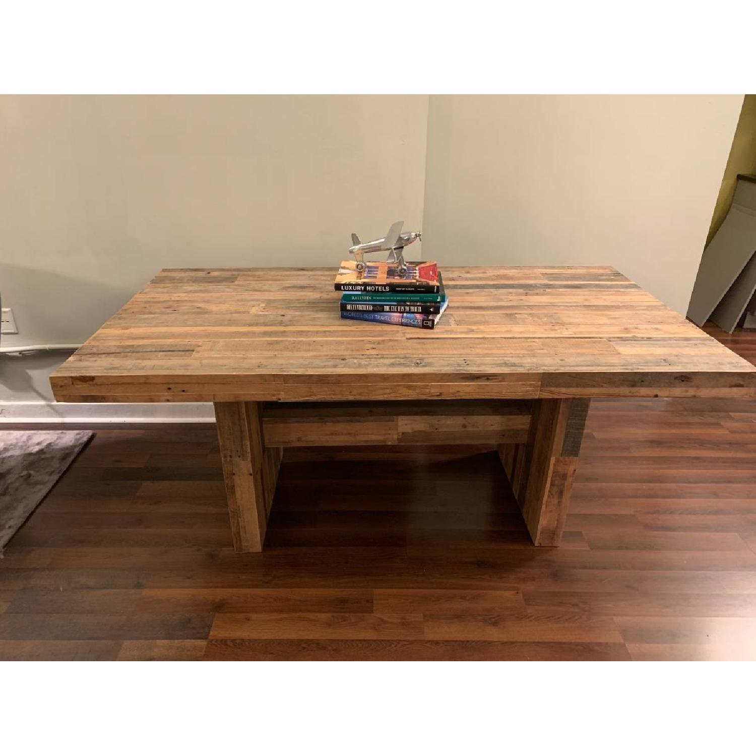 West Elm Reclaimed Pine Wood Dining Table-4