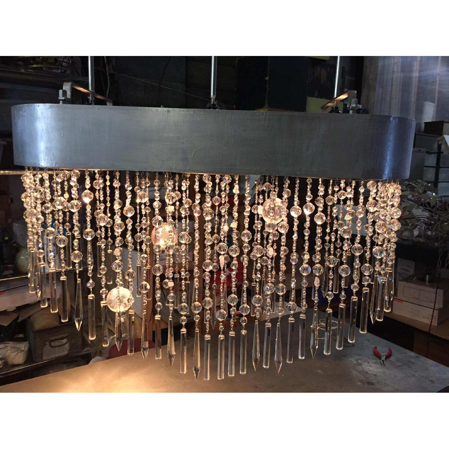 Mariann Megna Glass Custom Designed Modern Chandelier-1