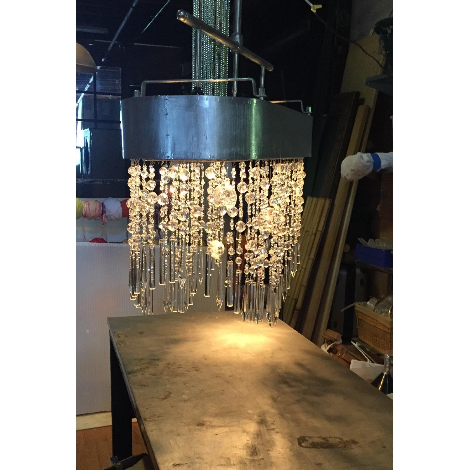 Mariann Megna Glass Custom Designed Modern Chandelier-3