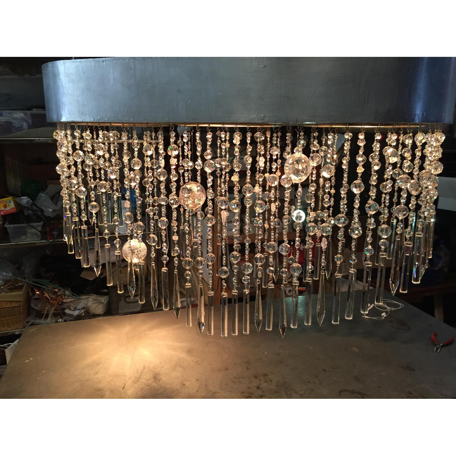 Mariann Megna Glass Custom Designed Modern Chandelier-4