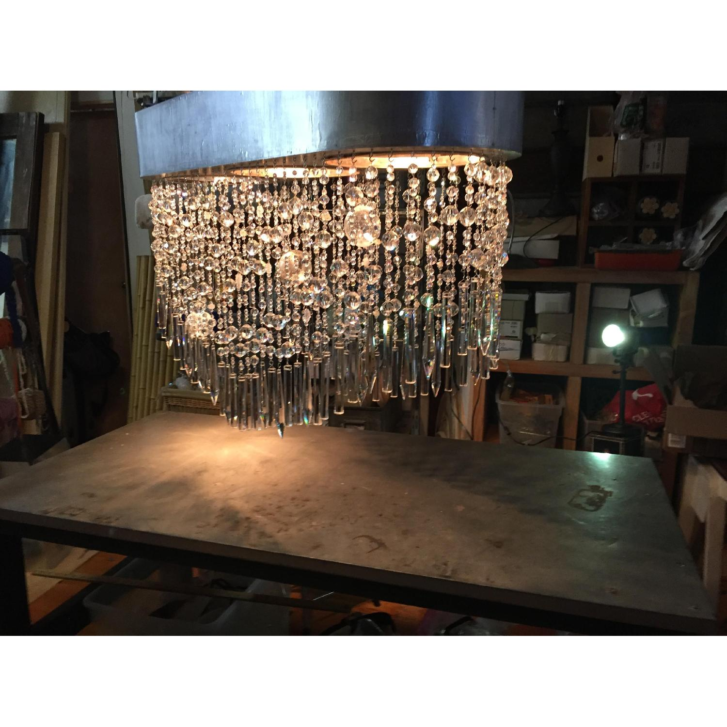 Mariann Megna Glass Custom Designed Modern Chandelier-5
