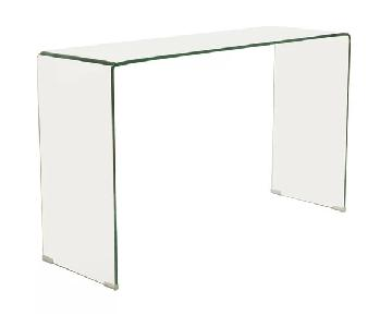 Wade Logan Tempered Glass Desk/Console Table