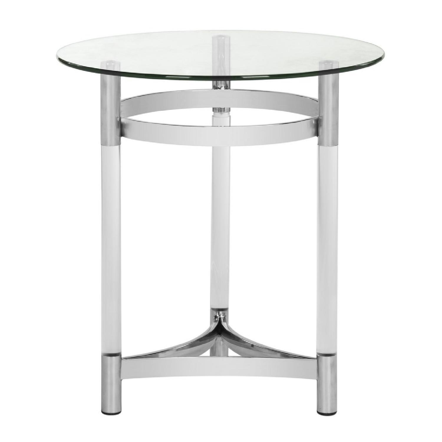 Safavieh Letty Round Acrylic End Table