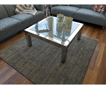 Safavieh Chrome & Glass Coffee Table