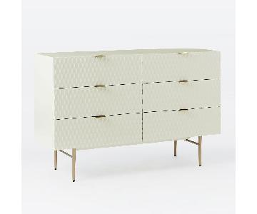 West Elm Audrey 6-Drawer Dresser in Parchment