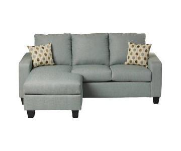 Mercury Row Morpheus Reversible Blue Sectional Sofa