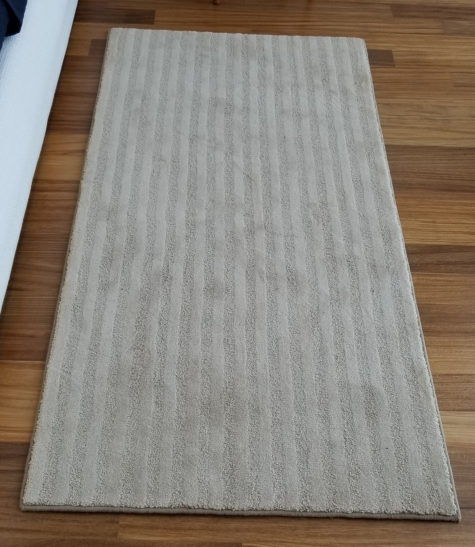 Ribbed Taupe Custom Cut Runner Rug
