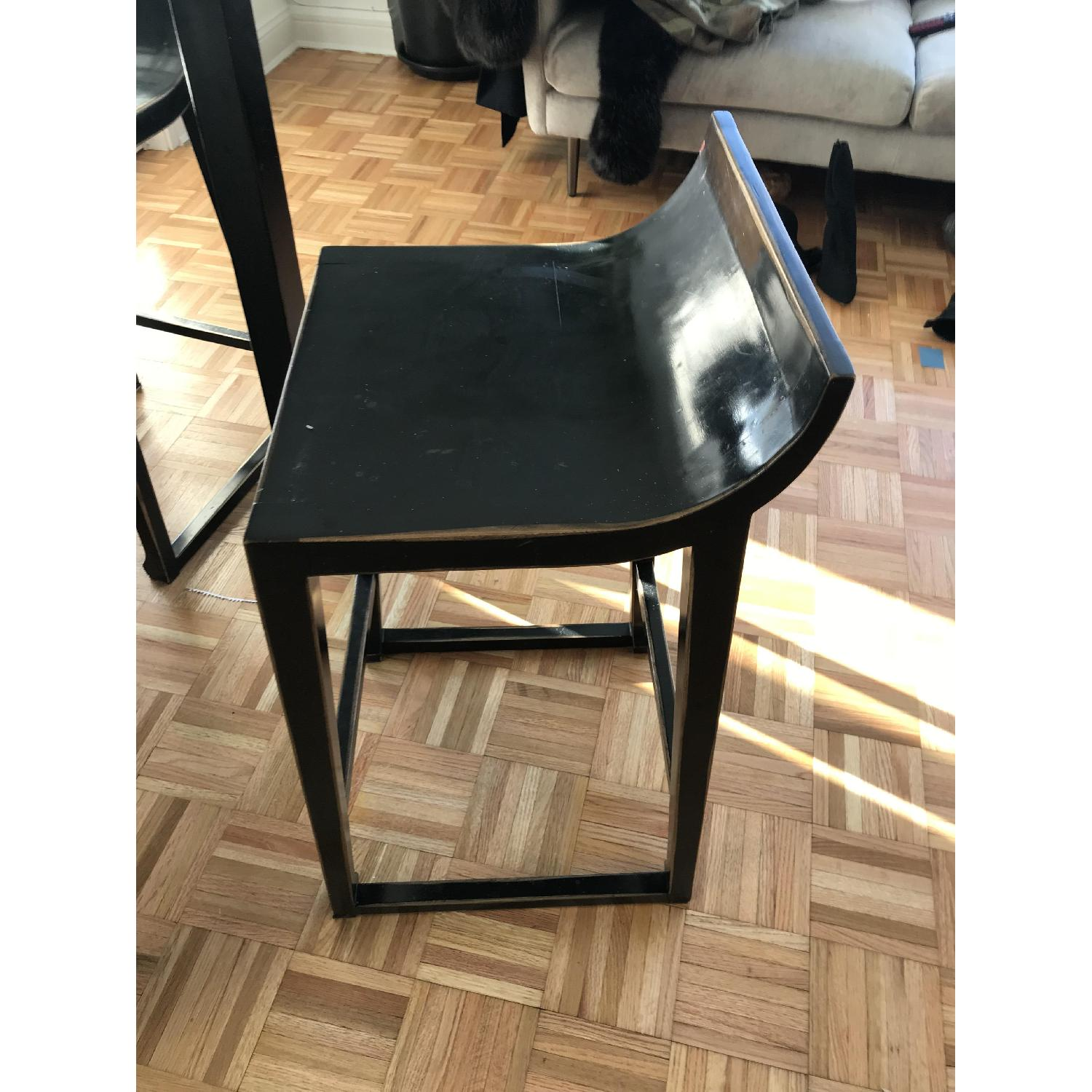 Selfridges Foldable Lacquered Black Table w/ 4 Chairs-3