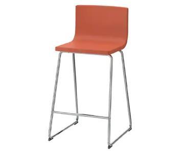 Ikea Bernhard Bar Stool w/ Backrest