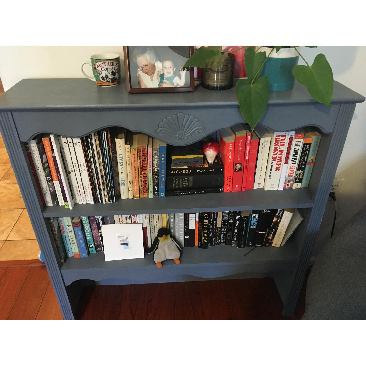 Blue Chalk Painted Bookcase-0