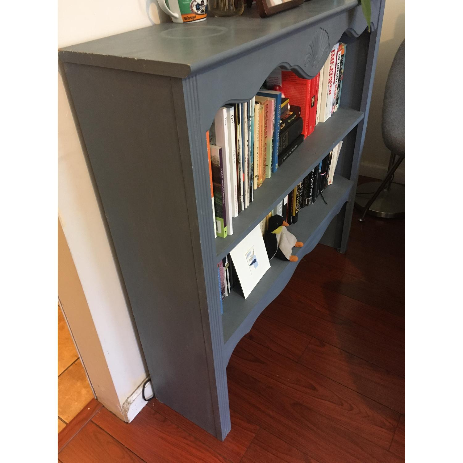 Blue Chalk Painted Bookcase-1