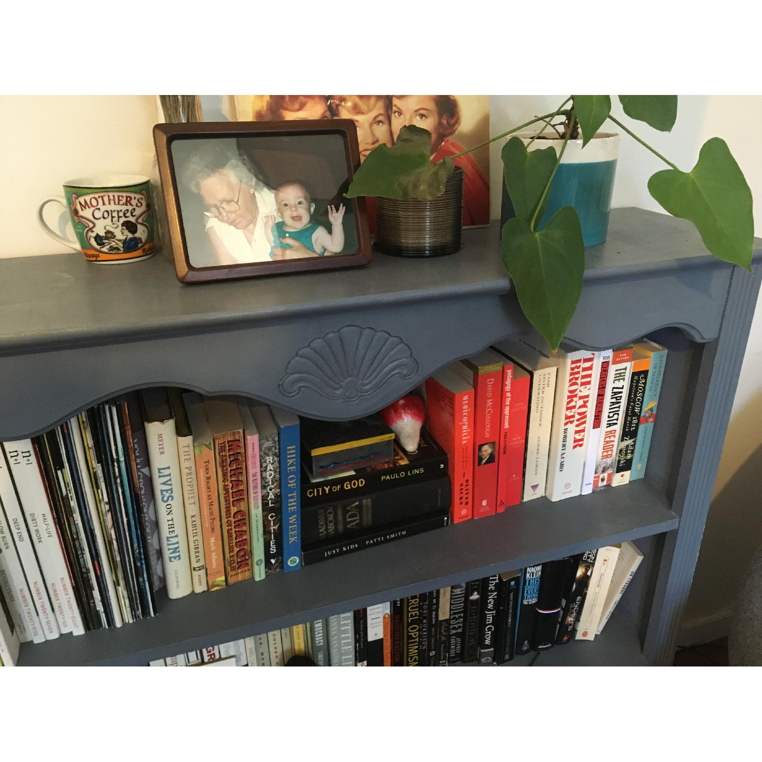 Blue Chalk Painted Bookcase-2