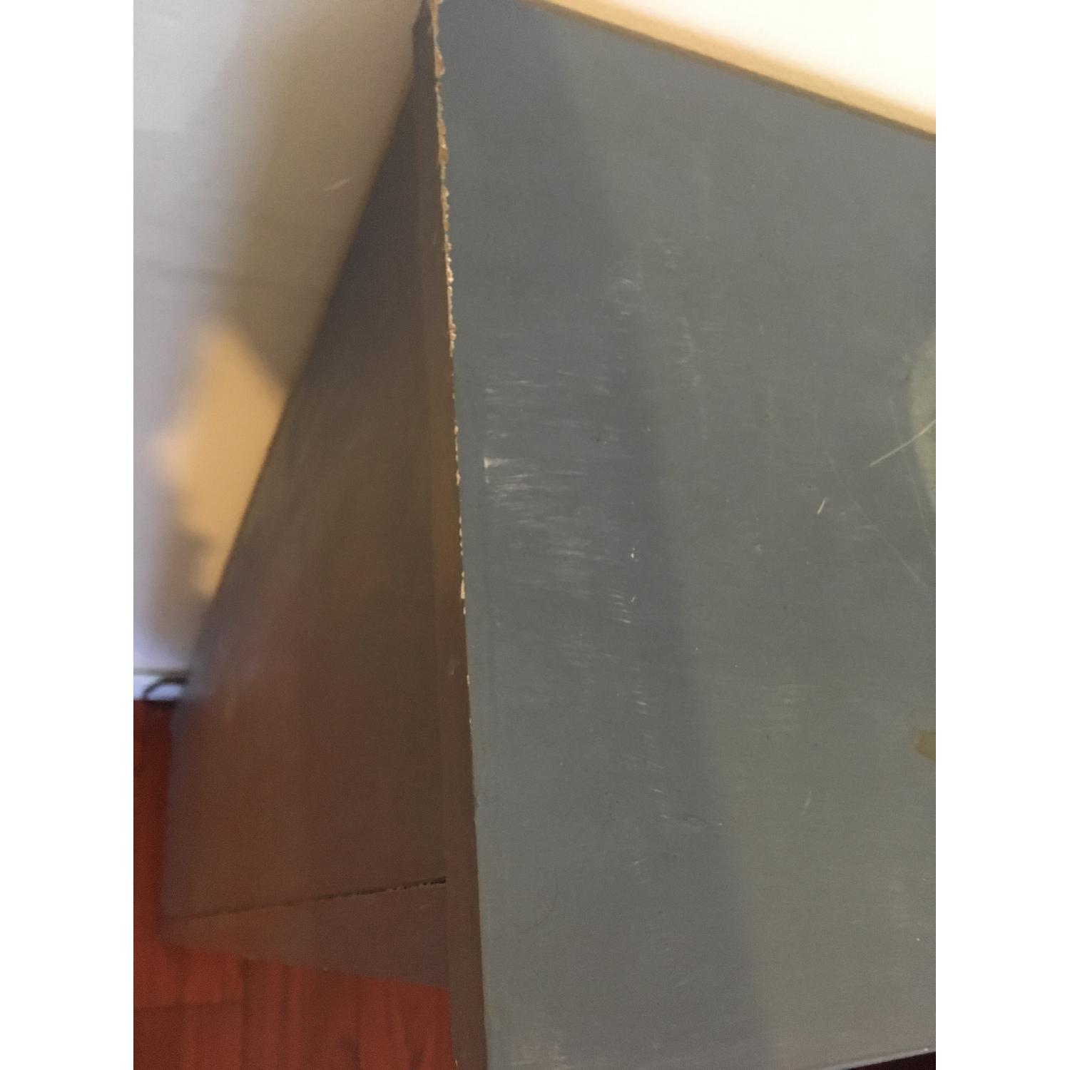 Blue Chalk Painted Bookcase-3