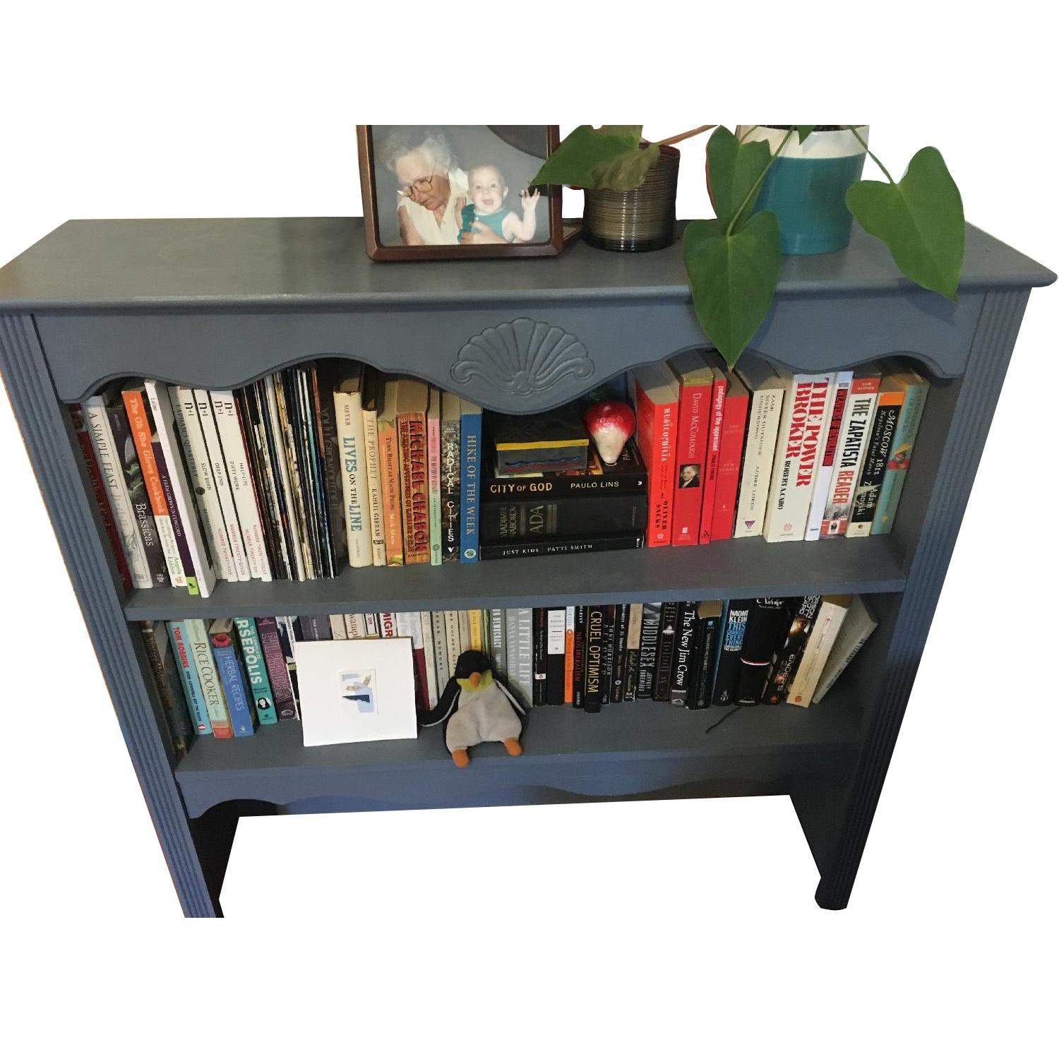 Blue Chalk Painted Bookcase