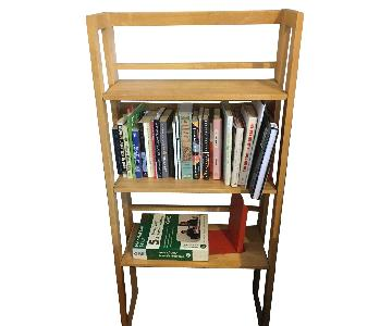 Solid Wood Folding Bookshelf