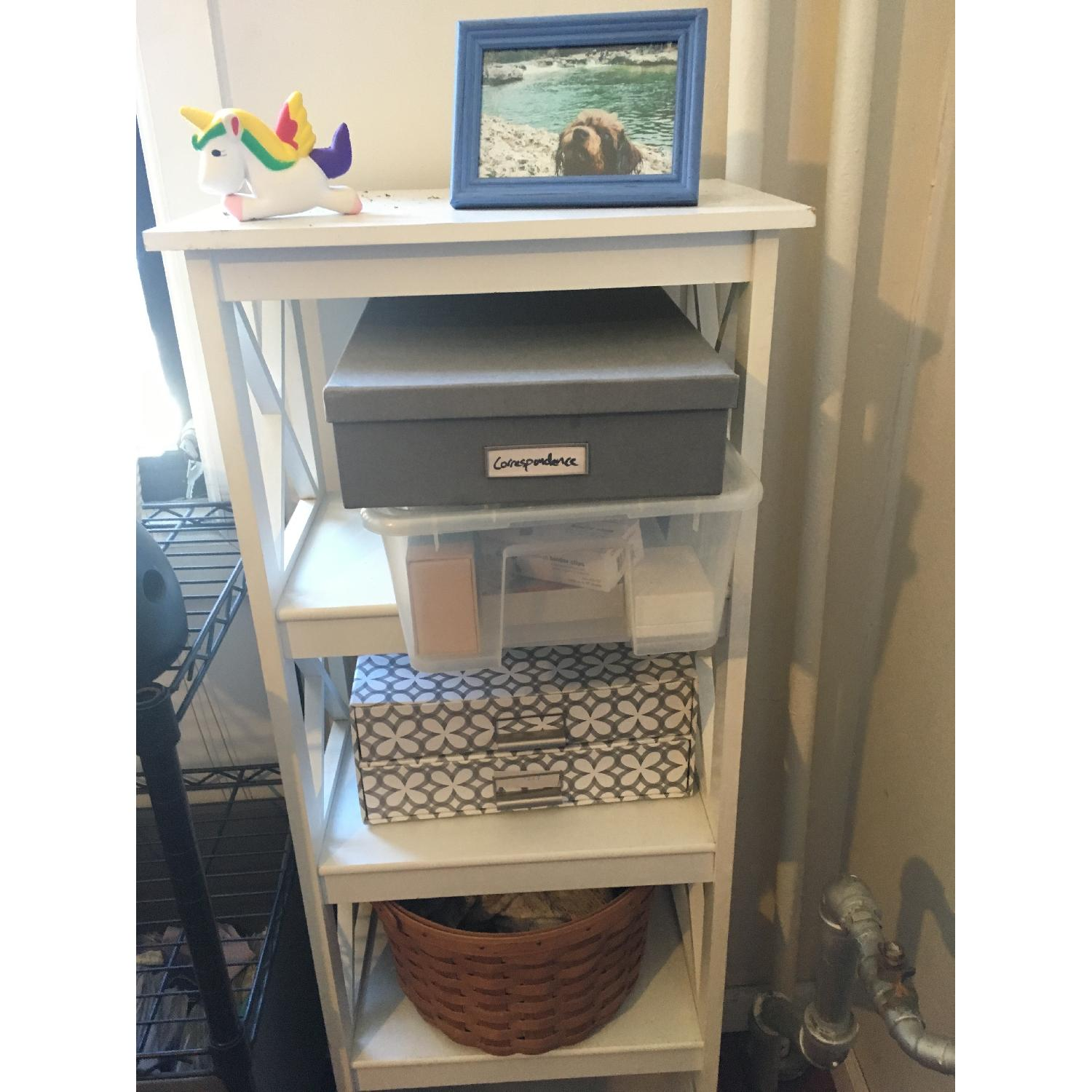 Solid Wood White Small Bookcase-3