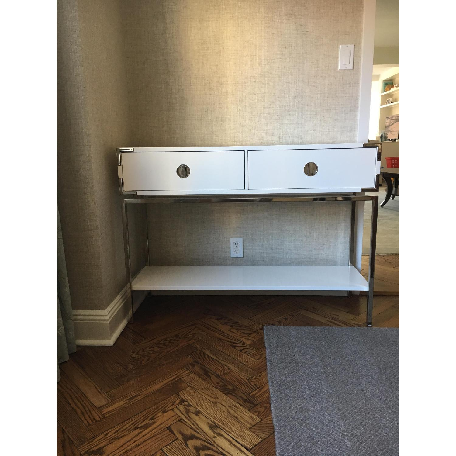 West Elm Malone Campaign Console Table-0