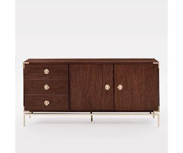 West Elm Malone Campaign Buffet in Dark Walnut