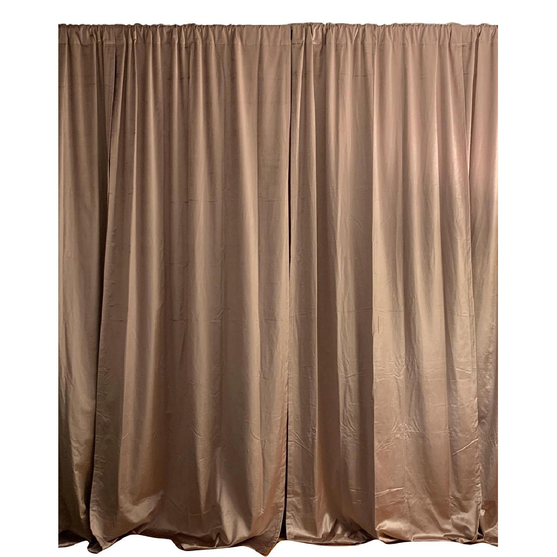 West Elm Cotton Luster Velvet Curtains in Dusty Blush