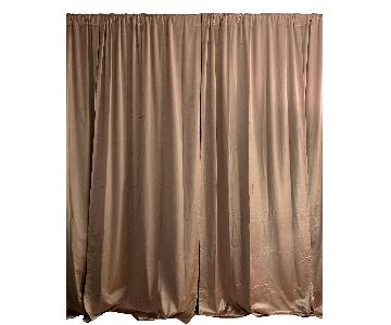 West Elm Cotton Luster Velvet Curtains in Dusty Blush
