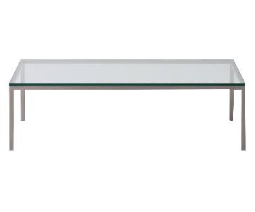 EQ3 Glass & Steel Coffee Table